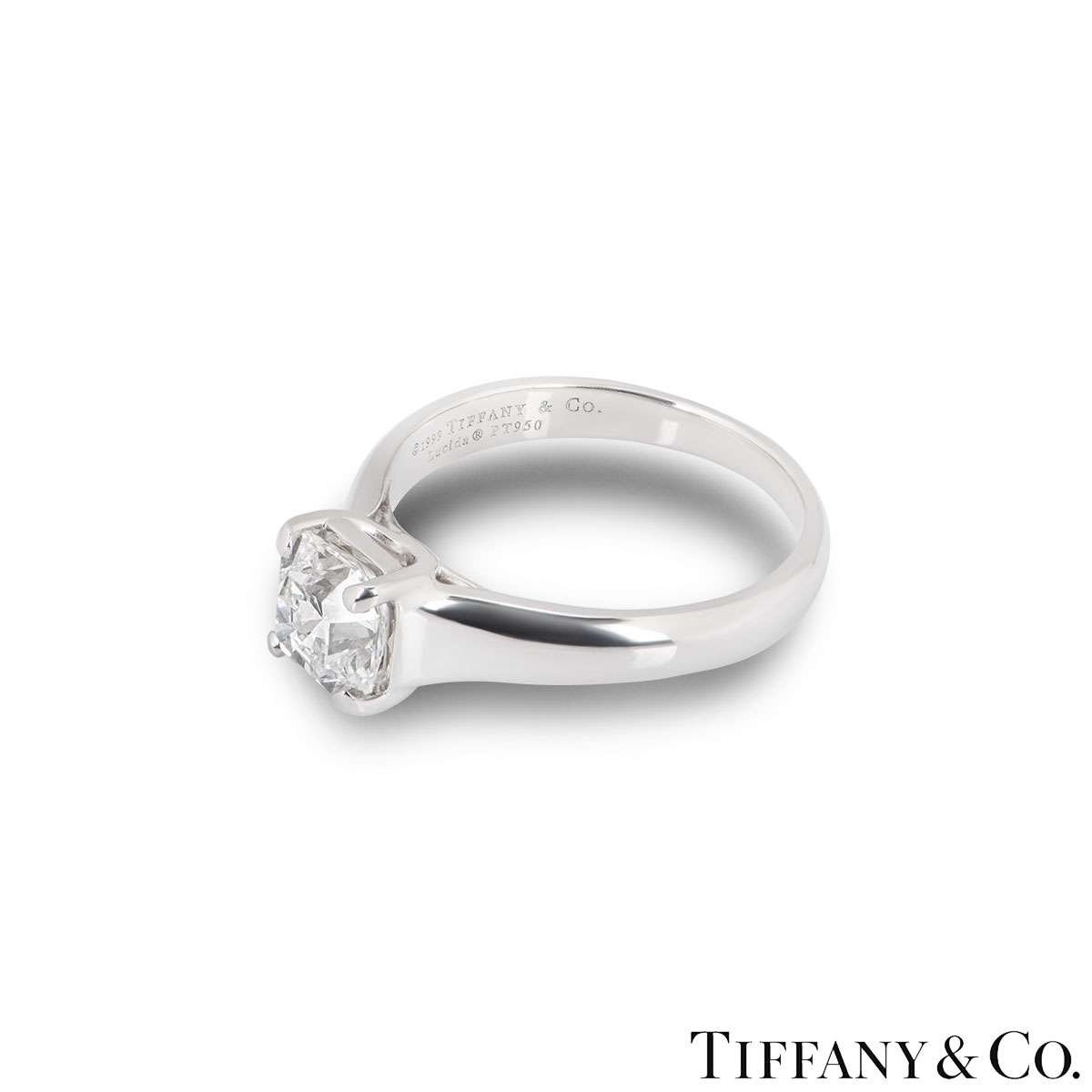 Tiffany & Co. Lucida Cut Diamond Ring 1.52ct G/VVS1